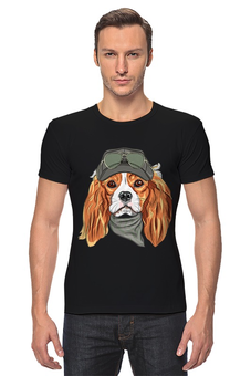 "Футболка Стрэйч ""Собака"" - новый год, собака"