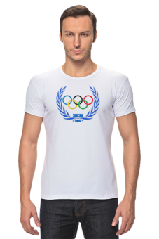 "Футболка Стрэйч (Мужская) ""Sochi 2014"" - olympic games, sochi 2014, сочи 2014, олимпийские игры"