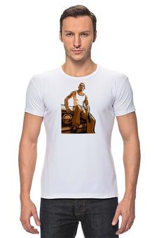 "Футболка Стрэйч ""GTA SA"" - авторские майки, футболка, мужская, оригинально, grand theft auto, gta, rockstar, рокстар, rockstar games, gta sa"