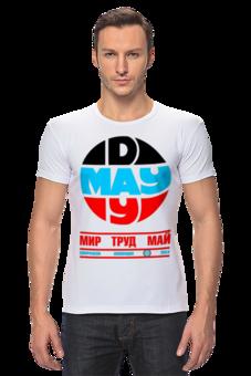 """Футболка Стрэйч """"Оригинальная коллекция """"1 МАЯ"""""""" - футболка, стиль, 1 мая, актуально, peace, россия, italy, italia, подарок, выделись из толпы"""