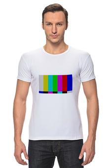 "Футболка Стрэйч (Мужская) ""Offline"" - арт, цвета, colors"