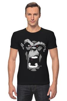 """Футболка Стрэйч (Мужская) """"Горилла """" - приколы, авторские майки, стиль, популярные, оригинальная, футболка мужская, креативная, горилла"""