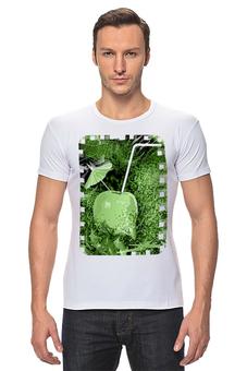 """Футболка Стрэйч """"Яблочный микс"""" - напиток, абстракция, яблоко, фрукт, натюрморт"""