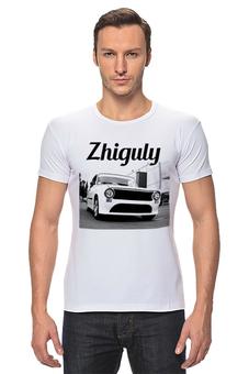 """Футболка Стрэйч """"ZHIGULY"""" - авто, автомобиль, жигули, копейка"""