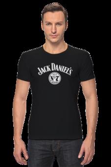 """Футболка Стрэйч """"Jack Daniels  """" - авторские майки, футболка, мужская, оригинально, футболка мужская, jack daniels, джек дэниелс, джэк дэниэлс, джек дениелс, whisky"""