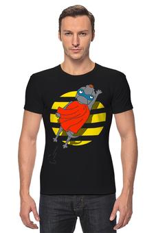 "Футболка Стрэйч ""СупермЭн"" - супермен, комикс, собака, иллюстрация, хипстер"