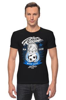 "Футболка Стрэйч ""Футбол"" - матрёшка, спорт, футбол"