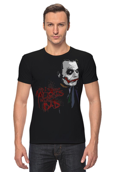 "Футболка Стрэйч (Мужская) ""Joker"" - joker, batman, джокер, dc, темный рыцарь, the dark knight, бентма"
