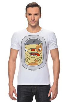 """Футболка Стрэйч """"Собакин"""" - комикс, собака, иллюстрация, дудлы"""