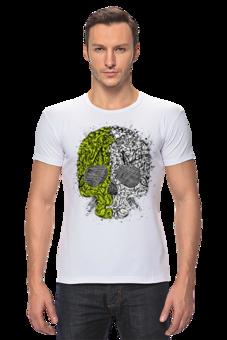 """Футболка Стрэйч (Мужская) """"Череп                  """" - дизайнерская футболка, футболка череп"""