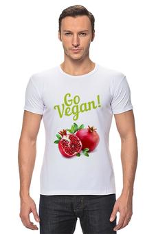 """Футболка Стрэйч """"Go Vegan!"""" - природа, веган, go vegan"""