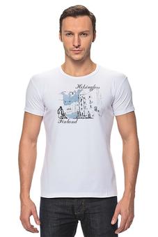 """Футболка Стрэйч """"Helsingfors"""" - арт, рисунок, город, графика"""