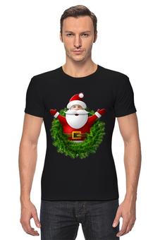 """Футболка Стрэйч """"Санта"""" - новый год, санта клаус"""