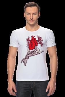 """Футболка Стрэйч (Мужская) """"Вырывающее сердце      """" - сердце, дизайнерская футболка"""