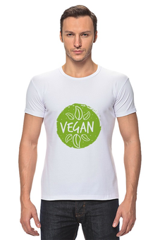 """Футболка Стрэйч """"Vegan"""" - природа, веган, vegan, go vegan, этика"""