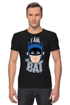 """Футболка Стрэйч (Мужская) """"I Am the Bat"""" - комиксы, batman, герой, бэтмен"""