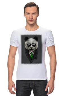 "Футболка Стрэйч ""Модный панда медведь"" - арт, bear, медведь, панда, panda"