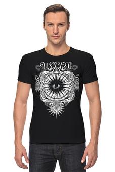 "Футболка Стрэйч ""Ulver"" - музыка, арт, волки, авангардный метал"