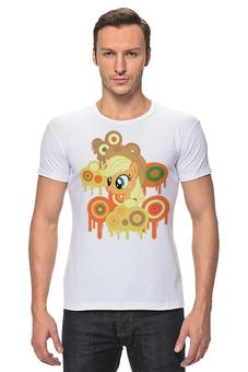 "Футболка Стрэйч ""AppleJack"" - my, pony, mlp, футболка мужская, fim, applejack, little"