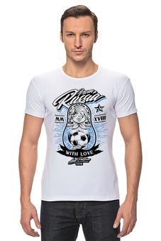 "Футболка Стрэйч ""Футбол"" - футбол, спорт, матрёшка"