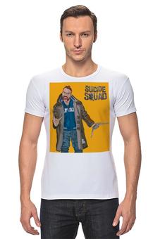 """Футболка Стрэйч (Мужская) """"Отряд самоубийц / Suicide Squad / Бумеранг"""" - рисунок, комиксы, кино, бумеранг"""