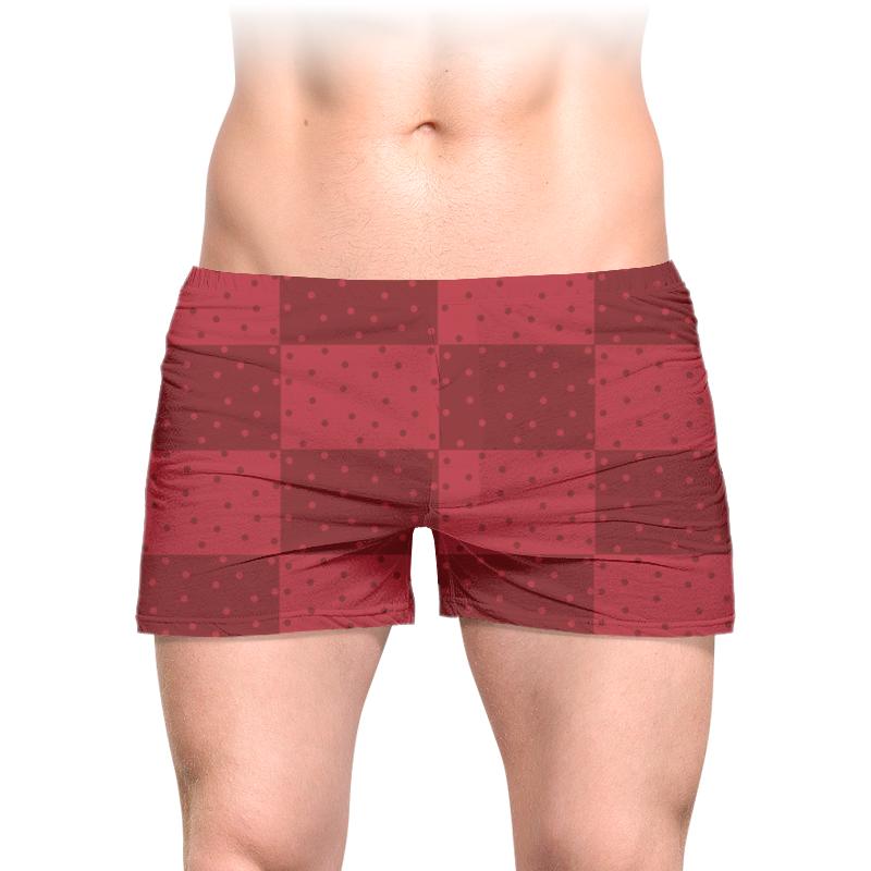Фото - Трусы мужские с полной запечаткой Printio Красный геометрический узор красные бобы мужские повседневные брюки hodo мужские мужские трусы slim cotton blended pants b5 33