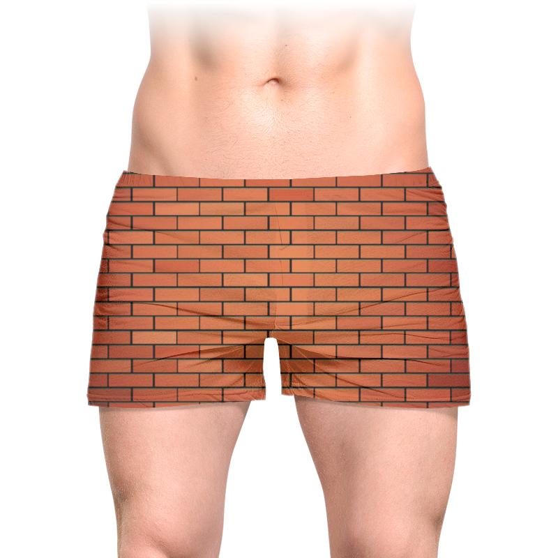 Printio Кирпичная стена трусы мужские с полной запечаткой printio кирпичная стена