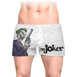 """Трусы мужские с полной запечаткой """"The Joker"""" - мужу, джокер, отряд самоубийц, с пистолетом, любителям комиксов"""