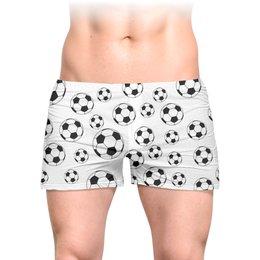 """Трусы мужские с полной запечаткой """"FOOTBALL"""" - футбол, 23 февраля, мужу, мужчине, мячи"""