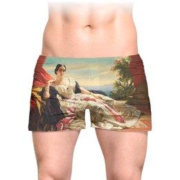 """Трусы мужские с полной запечаткой """"Леонилла Витгенштейн (картина Винтерхальтера)"""" - картина, портрет, живопись, винтерхальтер"""