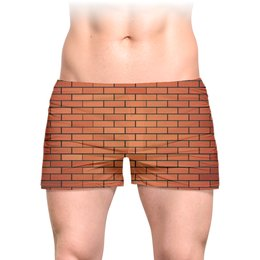 """Трусы мужские с полной запечаткой """"Кирпичная стена"""" - стиль, дизайн, мода"""