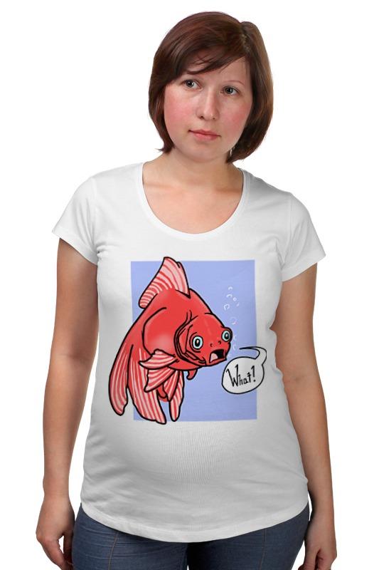 Футболка для беременных Printio Недоумевающая глазастая рыба олег ольхов рыба морепродукты на вашем столе