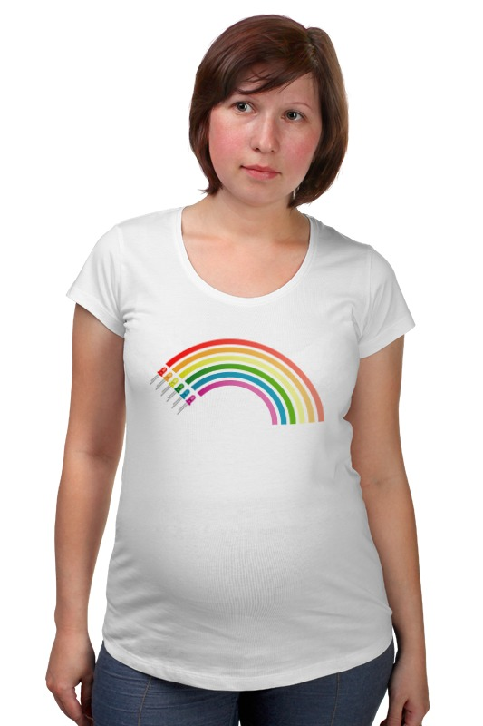 Футболка для беременных Printio Радуга кружка радуга 305мл фарфор