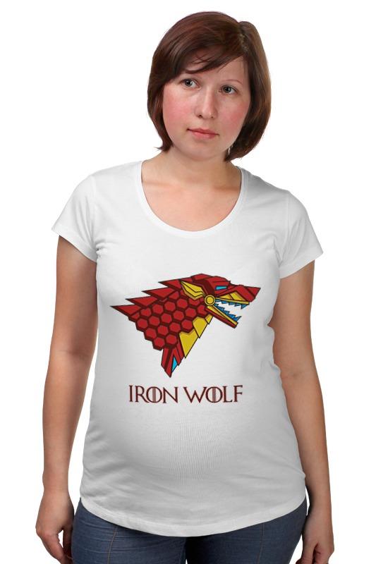 Футболка для беременных Printio Iron wolf (stark x iron man) футболка классическая printio stark bucks coffee iron man