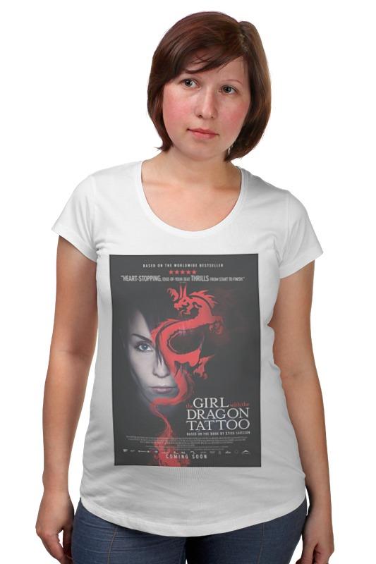 Футболка для беременных Printio Девушка с татуировкой дракона в астане книгу девушка с татуировкой
