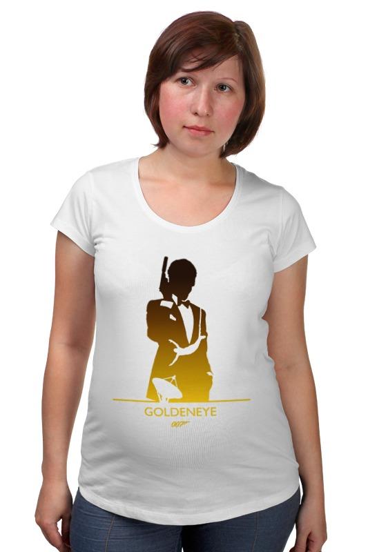 Футболка для беременных Printio 007: золотой глаз футболка для беременных printio property of a lady 007