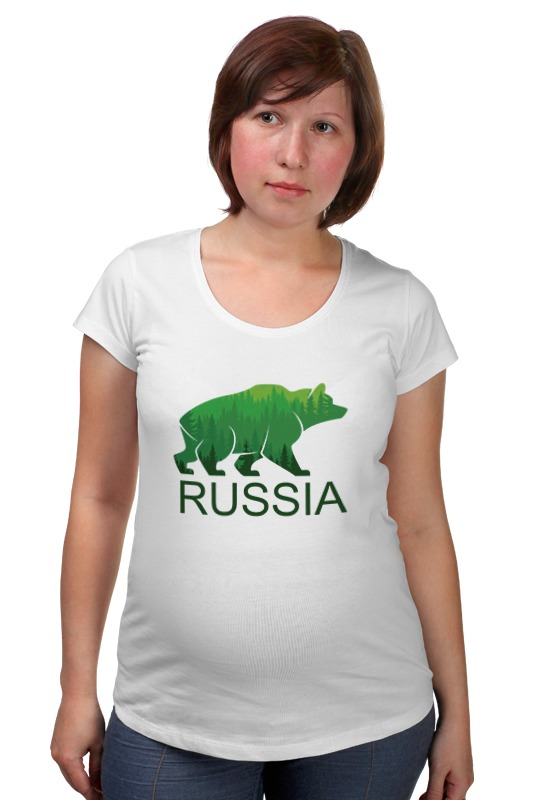 Футболка для беременных Printio Россия, russia футболка для беременных printio крым россия