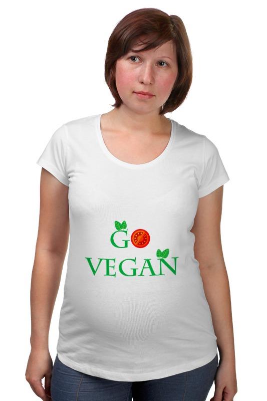 Футболка для беременных Printio Go vegan женские часы go girl only go 694923