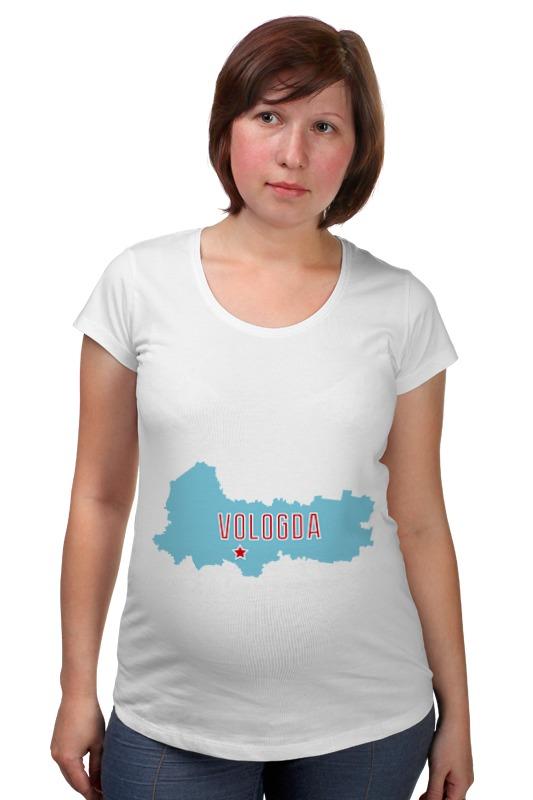 Футболка для беременных Printio Вологодская область. вологда вологда кириллов ферапонтово белозерск