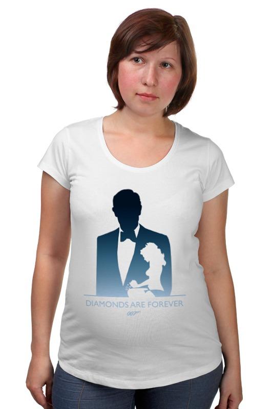 Футболка для беременных Printio 007: бриллианты навсегда футболка для беременных printio property of a lady 007