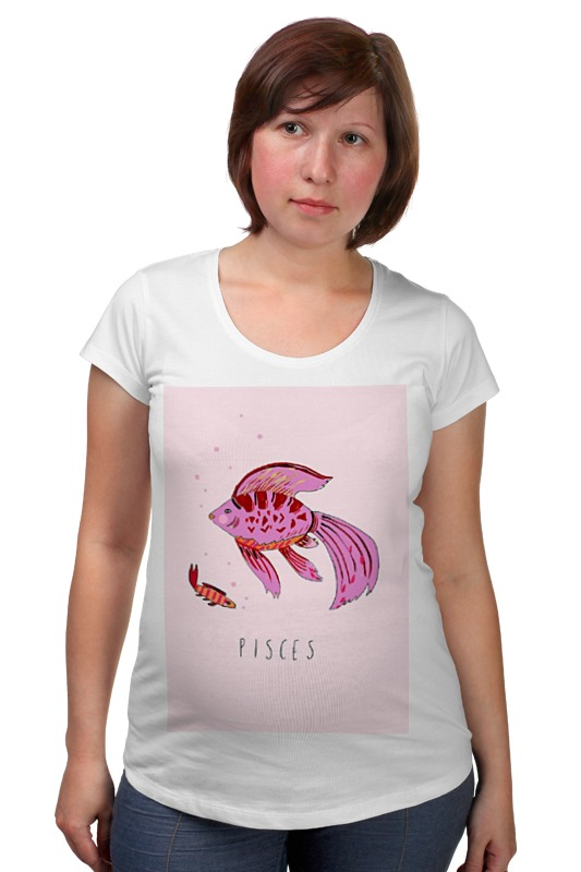 Футболка для беременных Printio Знаки зодиака. рыбы. футболка рингер printio знаки зодиака лев