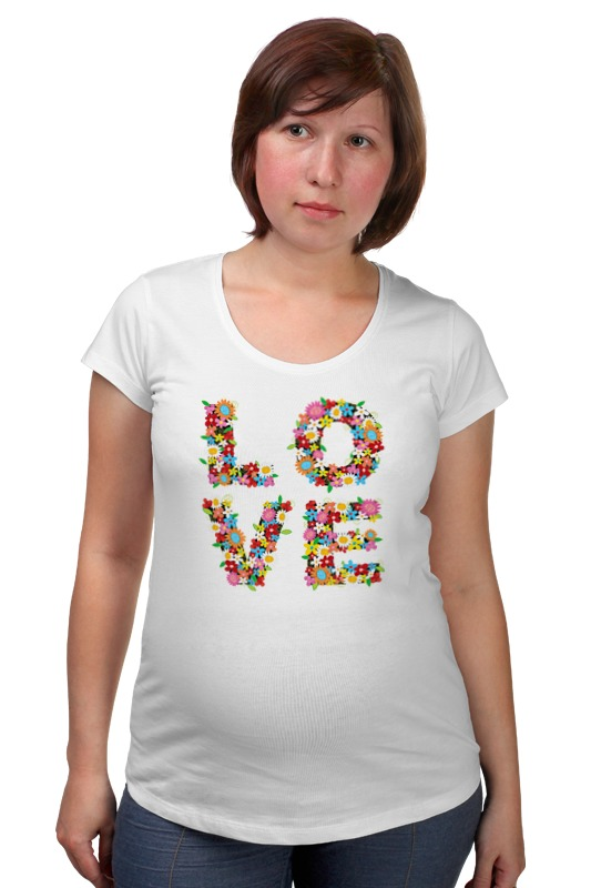 Футболка для беременных Printio Love товары для беременных