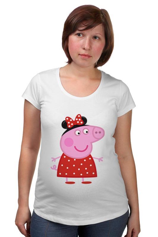 Футболка для беременных Printio Peppa pig свинка пеппа посуды королевское чаепитие peppa pig