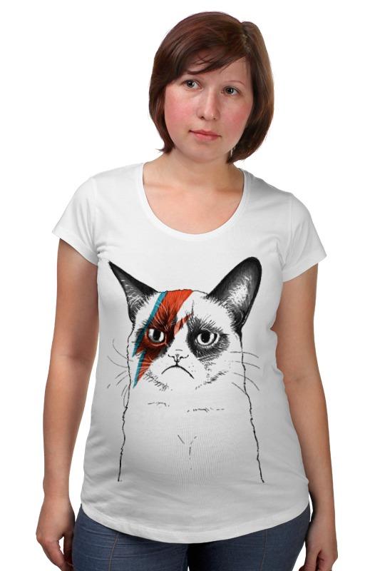 Футболка для беременных Printio Кот пессимист футболка для беременных printio кот персик