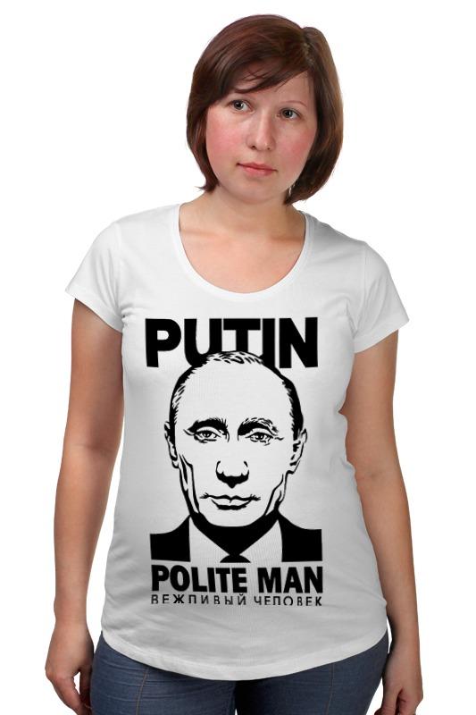 Футболка для беременных Printio Putin polite man футболка для беременных printio вежливый человек