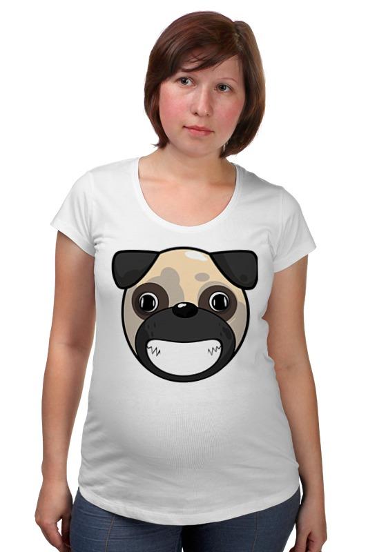 Футболка для беременных Printio Улыбающаяся собака одежда для беременных