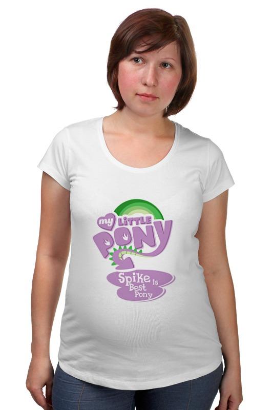 Футболка для беременных Printio My little pony: спайк - лучшая пони! футболка для беременных printio my little pony obey