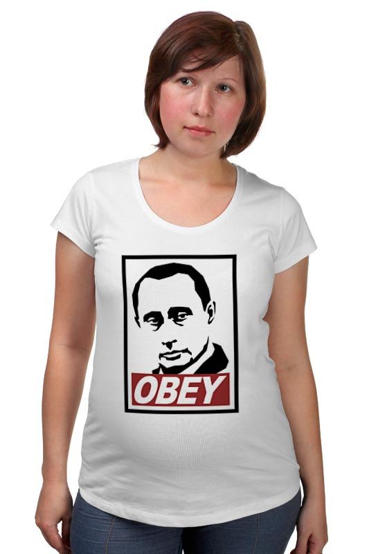 Футболка для беременных Printio Путин obey