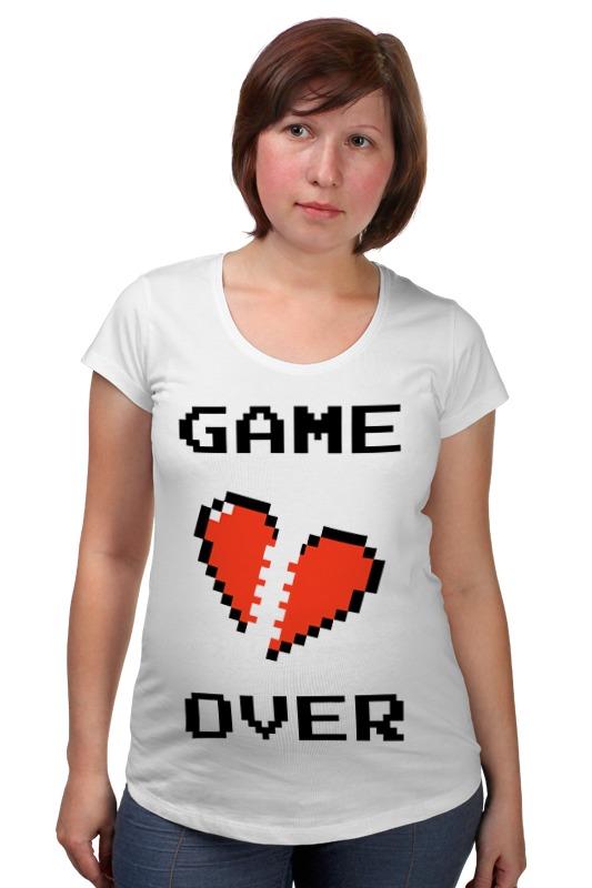 Футболка для беременных Printio Game over (игра окончена) футболка для беременных printio игра слов