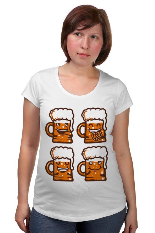 Футболка для беременных Printio Кружки пива солод чешский для пива